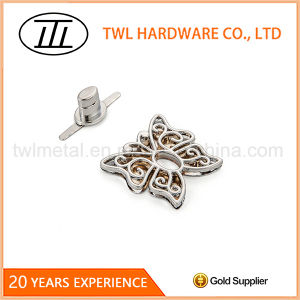 Silver Butterfly Shaped Hollowed-out Handbags Hardware Turn Lock pictures & photos