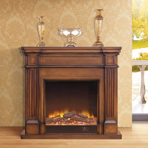 European Style Antique Carved Solid Wood Fireplace Mantel (GSP14-004) pictures & photos