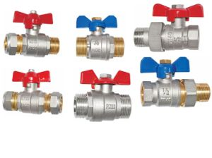 Brass Full Port Ball Valve with Butterfly Handle (a. 0114) pictures & photos