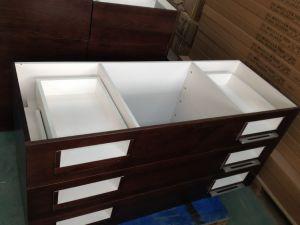 Natural Oak Wood Veneer Vanity Cabinets pictures & photos