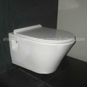 Ceramic Wall Hanging Toilet Bowl Washdwon Water Closet (ML-588) pictures & photos