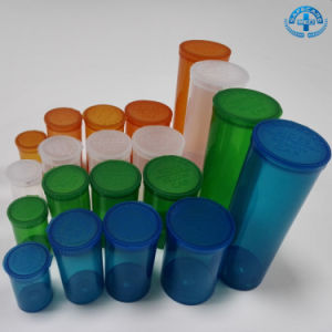Hot Squeeze Pop Top Vials Medical Pill Bottle Clear Rx Container pictures & photos