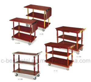 Hotel Room Beverage Service Trolley Food Cart pictures & photos