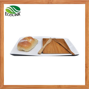 Bamboo & Ceramic Breakfast Serving Tray pictures & photos