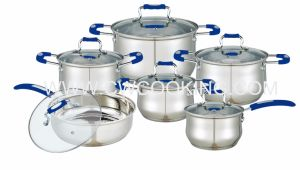 12PCS Stainless Steel Cookware Set with Silicone Handle pictures & photos
