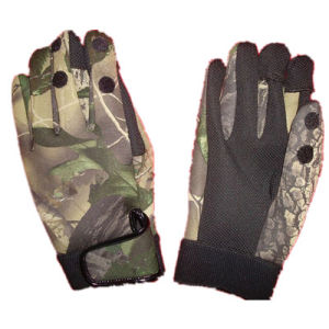 Hot! Anti-Stab-Needle Military Multicamo Water-Proof Wild Traning Multicamo Camouflage Tactical Outdoor Bionic Full-Half Finger Sports Travelling Leather Glove pictures & photos