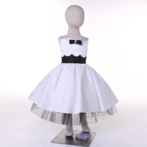 White/Black Designer Flower Girl Dress for Wedding and Ceremonial pictures & photos