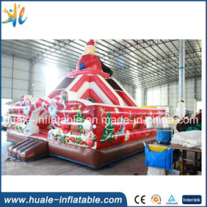 Outdoor Sports Inflatable Santa Claus Slide for Sale