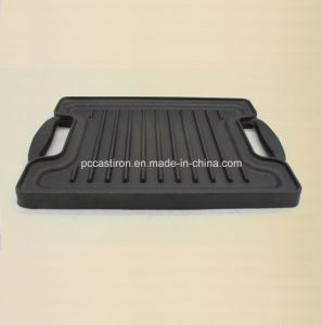 Cast Iron Griddle Pan Size 27X21cm pictures & photos