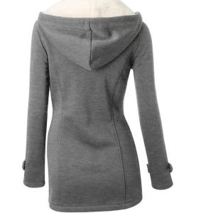 European Hot Selling Ladies Hooded Cotton Sweater Jacket pictures & photos