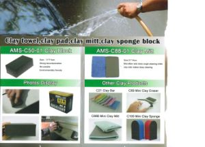 Polyurethane Clay Bar Black Foam Sponge pictures & photos