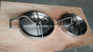 Pressure Type Sanitary Stainless Steel Oval Manway pictures & photos