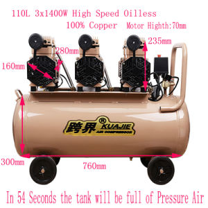 3X1400W Portable Silent Oil Free High Pressure Air Compressor pictures & photos