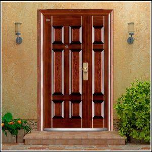 Double Door Metal Steel Door Security