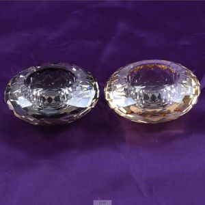 Round Shape Crystal Glass Candle Holder for Decoration pictures & photos