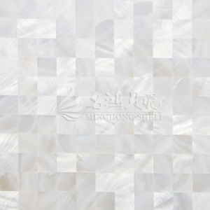 Freshwater Shell Mother Pearl Pure White Square Mosaic Tile pictures & photos