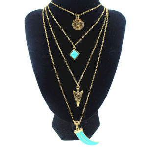 Multi Layer Bohemian Long Turquoise Tassel Fashion Pendant Necklace Jewelry pictures & photos