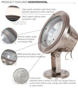 DMX Control IP68 Stainless Steel LED Fountain Light pictures & photos