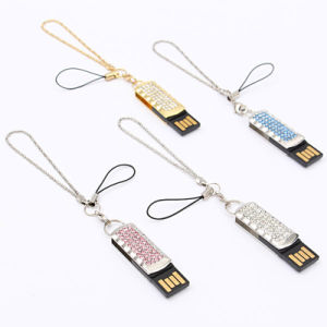 Fashion Metal Diamond Crystal Model Pen Drive Girl Love Gifts pictures & photos
