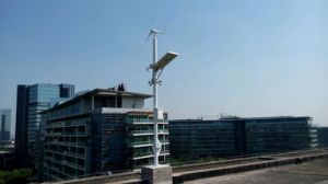 40W Solar Wind Integrated Street Light System in Kenya pictures & photos