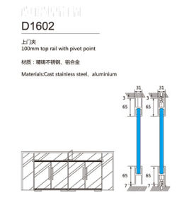 Xc-D1602 100mm Stainless Steel Top Rail with Pivot Point pictures & photos