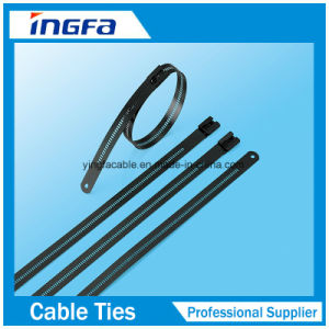 O Lock Zip Ties PVC Covered Stainless Steel Cable Tie pictures & photos