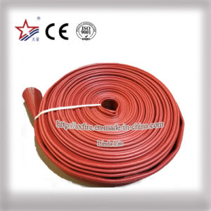 Red PVC Material Layflat Hose pictures & photos