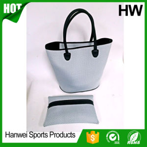 High Quality fashion Neoprene Beach Bag with Pouched Holes pictures & photos