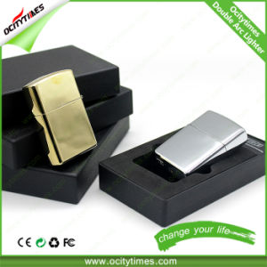 Hot Christmas Gift Zinc Alloy Double Arc USB Lighter pictures & photos