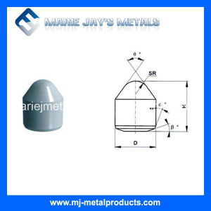 Tungsten Carbide Conical Buttons with Good Price pictures & photos