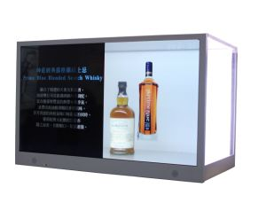 Hot Sale Cosmetic / Beer / jewelry / Perfume Transparent LCD Ad Display Box pictures & photos