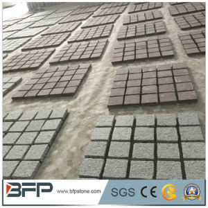 China Cheap Grey Granite G603 Paving Stone / Cube / Cobble Stone on Mesh pictures & photos