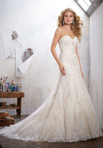 2017 Lace A-Line Bridal Wedding Dresses Nwm1702 pictures & photos