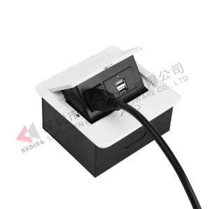 Multifunctional Tabletop Outlet Socket Slow Opening USB Charger pictures & photos