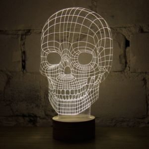 Acrylic Engrave Skull Gift Birthday Gift pictures & photos