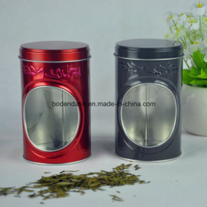 Custom Round Tea Packaging Tin Box with PVC Window pictures & photos