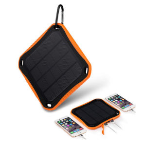 Window Dual 5V 2.1A USB Ports Solar Charger 5600mAh Power Bank pictures & photos
