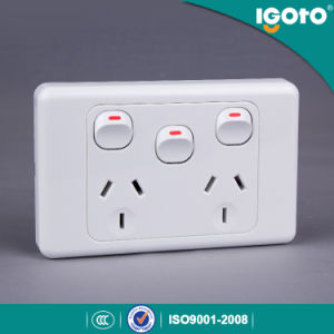 10A Double Power Point with Extra Switch pictures & photos