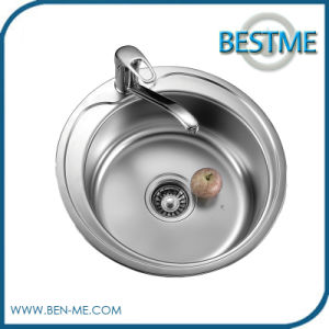 2016 Single Round Bowl Stainless Steel Sink pictures & photos