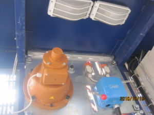 Galvanzied Twin Construction Hoist with Cab Two Safety Device pictures & photos