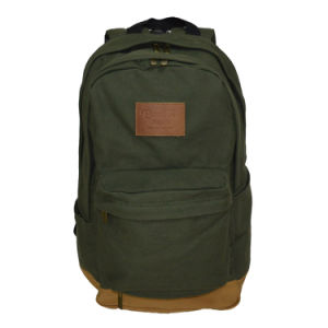 Cotton Canvas Daily-Use Soft Laptop Backpack pictures & photos