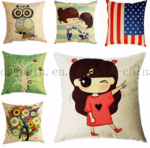 OEM Logo DIY Cotton Bolster Pillow Cushion for Promotion pictures & photos