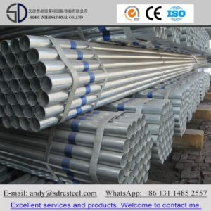 Hot-DIP Galvanized Pipes with Bevel Ends pictures & photos