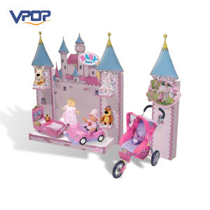 Pink House Shaped Cardboard Promotional Outdoor Display for Baby Toy pictures & photos