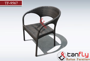 Outdoor Garden Patio Aluminum Rattan Stackable Chairs