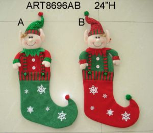 "20""H Decoration Elf Stocking Christmas -2 Asst pictures & photos"