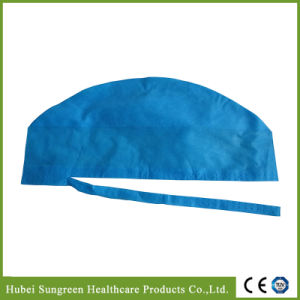 Machine Made Disposable Non-Woven Surgical Cap with Ties pictures & photos