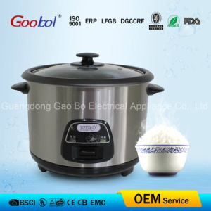 1.0L Capacity Straight Rice Cooker, Stainess Steel Shell Without Steamer pictures & photos