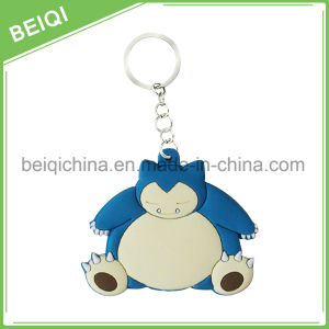 Promotional Cheap Custom 3D Soft PVC Keychain with Metal Ring pictures & photos