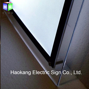 Table Stand Acrylic Poster Frame LED Light Box for Advertising Sign pictures & photos